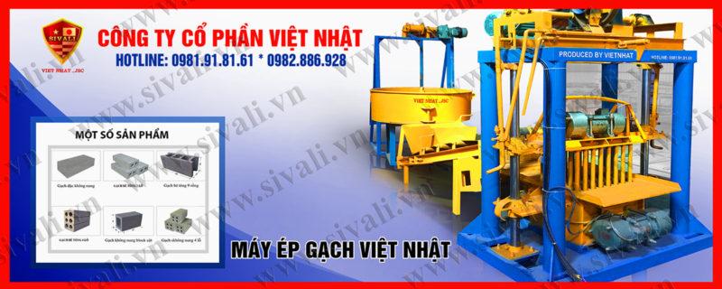 Máy đóng gạch bi Việt Nhật