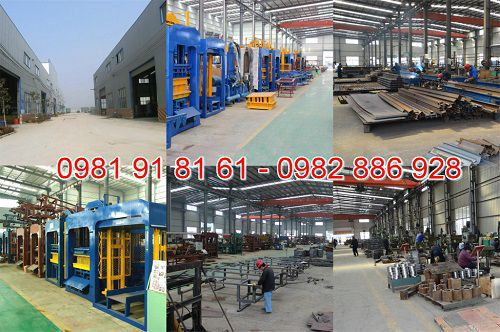 Cơ sở sản xuất máy ép gạch bê tông Việt Nhật