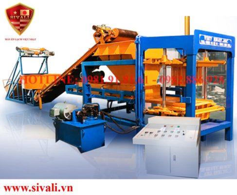 Máy ép gạch không nung bán tự động Sivali QT-24