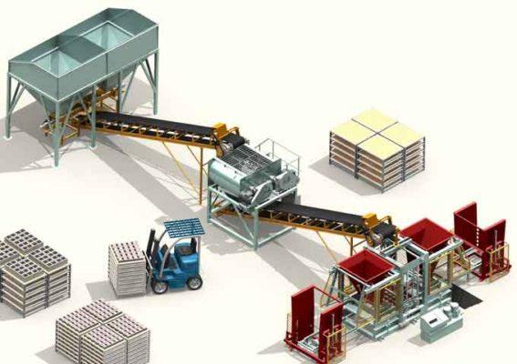 Quy trình sản xuất gạch không nung tự động