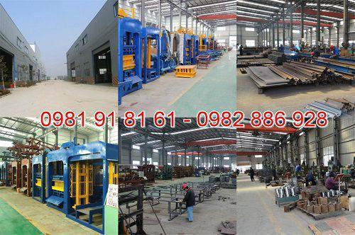 Nhà máy sản xuất máy ép gạch không nung tại Nghệ An