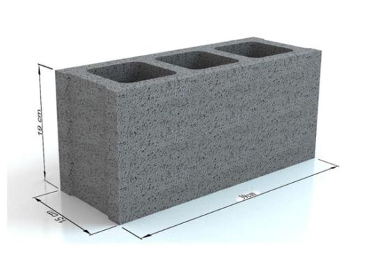 Gạch block rỗng 3 thành vách